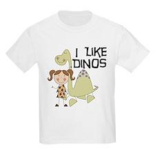 Girl I Like Dinos T-Shirt