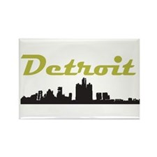 Detroit Girl - Simply, Detroi Rectangle Magnet
