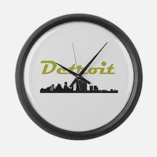 Detroit Girl - Simply, Detroi Large Wall Clock