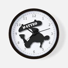 Matteo - Skateboard Wall Clock