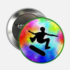"""Tie Dye Skater 2.25"""" Button"""