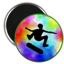 Tie Dye Skater Magnet