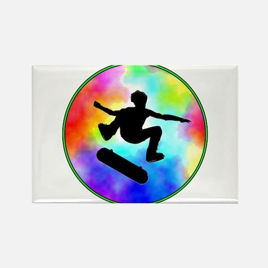 Tie Dye Skater Rectangle Magnet