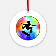 Tie Dye Skater Ornament (Round)
