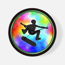 Tie Dye Skater Wall Clock
