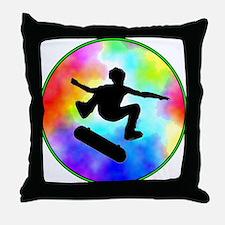 Tie Dye Skater Throw Pillow