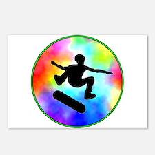Tie Dye Skater Postcards (Package of 8)