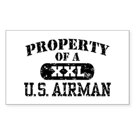 Property of a U.S. Airman Sticker (Rectangle)