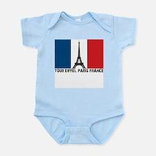 Tour Eiffel Paris France Infant Bodysuit