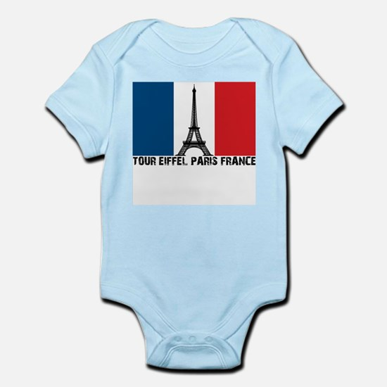 Tour Eiffel Paris France Infant Bodysuit