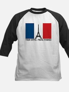 Tour Eiffel Paris France Kids Baseball Jersey