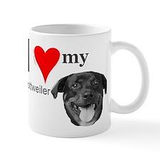 Cute Love my rottweiler Mug