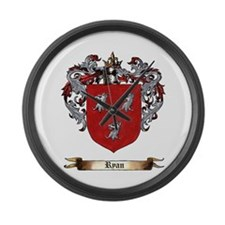Ryan Coat Of Arms Large Wall Clock