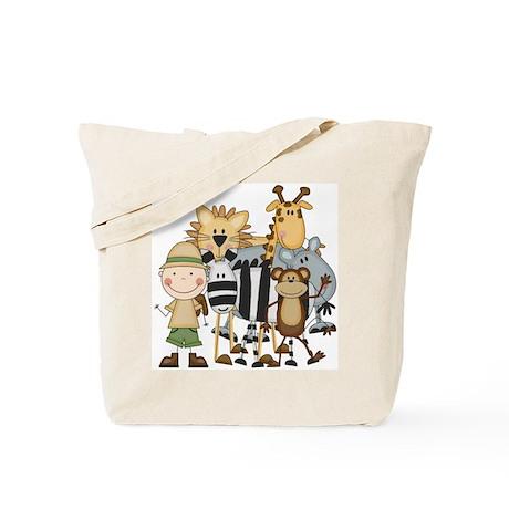 Boy on Safari Tote Bag