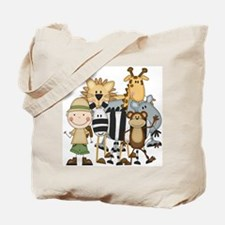 Boy on Safari Tote Bag