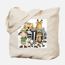 Girl on Safari Tote Bag