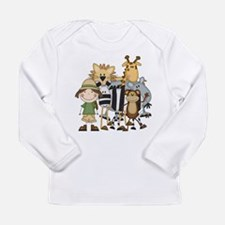 Girl on Safari Long Sleeve Infant T-Shirt