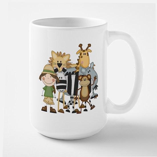 Girl on Safari Large Mug