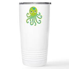 Green Octopus Travel Coffee Mug