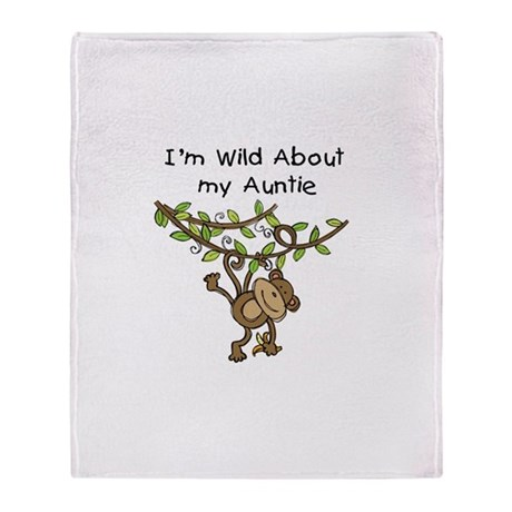 Wild About Auntie Long Sleeve Throw Blanket