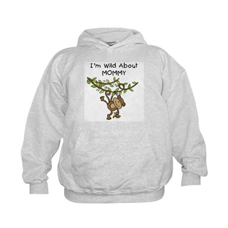 Wild About Mommy Long Sleeve Kids Hoodie