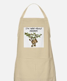 Wild About Mommy Long Sleeve Apron