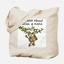 Wild About Nana & Papa Tote Bag