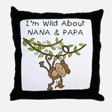 Wild About Nana & Papa Throw Pillow