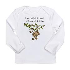 Wild About Nana & Papa Long Sleeve Infant T-Shirt