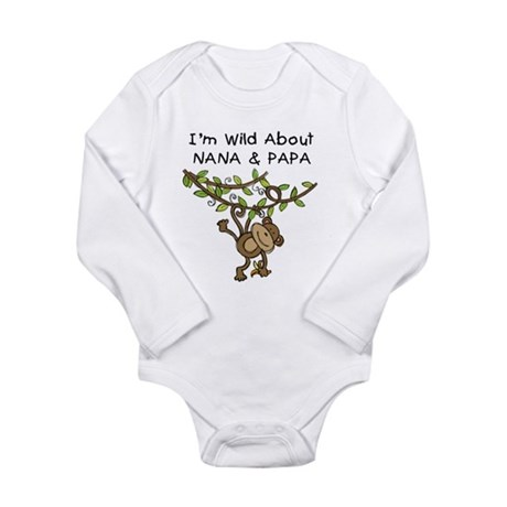 Wild About Nana & Papa Long Sleeve Infant Bodysuit