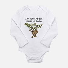 Wild About Nana & Papa Long Sleeve Infant Bodysuit