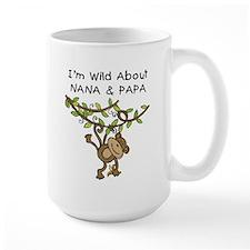 Wild About Nana & Papa Mug