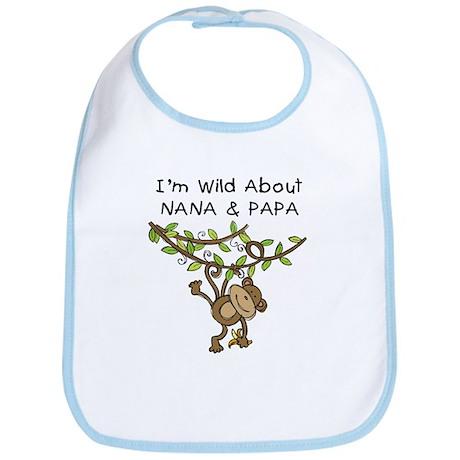 Wild About Nana & Papa Bib