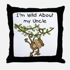 Wild About My Uncle Long Sleeve Throw Pillow