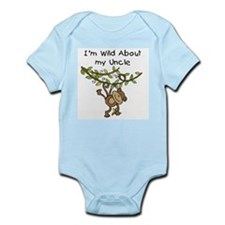 Wild About My Uncle Long Sleeve Infant Bodysuit
