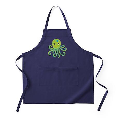 Green Octopus Apron (dark)