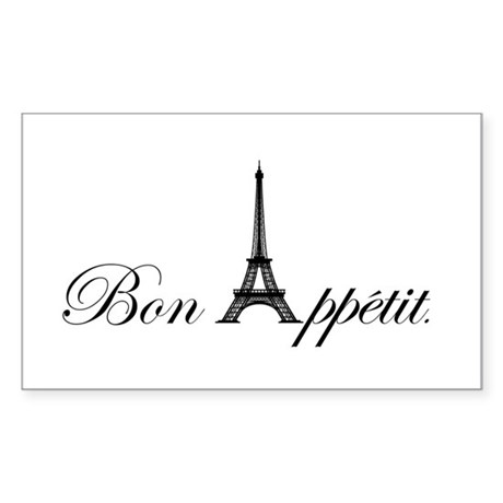 Bon Appetit Sticker (Rectangle)
