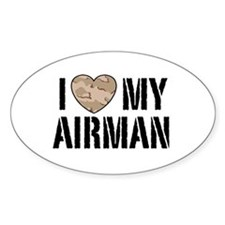 I Love My Airman Decal