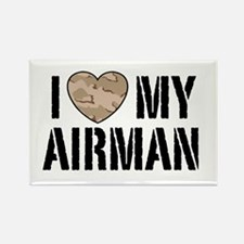 I Love My Airman Rectangle Magnet