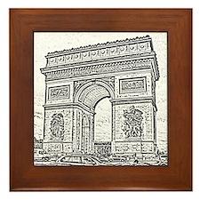 Arc de Triomphe Framed Tile