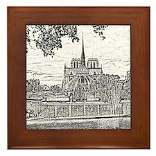 Notre Dame Framed Tile
