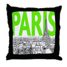 Paris Green Throw Pillow