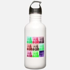 Aleister Crowley in Color Water Bottle