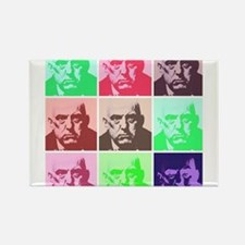 Aleister Crowley in Color Rectangle Magnet