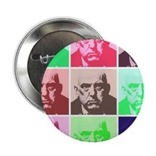 """Aleister Crowley in Color 2.25"""" Button"""