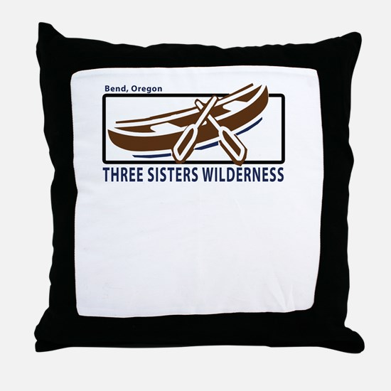 Three Sisters Wilderness Throw Pillow