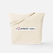 I Love Herbert Kohl Tote Bag
