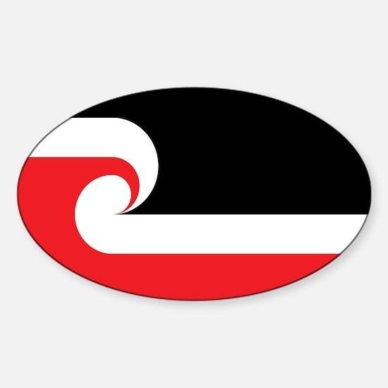 Maori Flag Sticker (Oval)