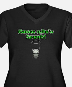 Guess Who's Drunk! Women's Plus Size V-Neck Dark T