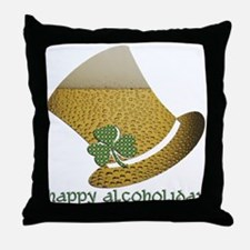 Alcoholiday (by Deleriyes) Throw Pillow